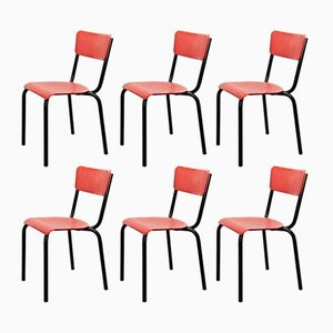 Chairs by Pierre Guariche for Meurop, 1950s, Set of 6
