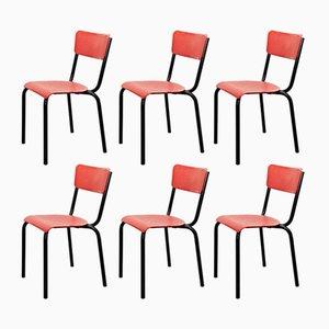 Stühle von Pierre Guariche für Meurop, 1950er, 6er Set