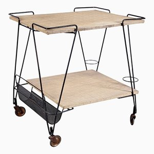 Tea Trolley by Mathieu Matégot, 1950s