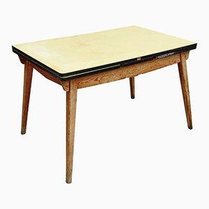 Mesa de comedor extensible modernista, años 50