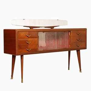 Mid-Century Italian Sideboard with Mirror, 1940s