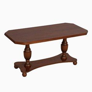 Tavolino da caffè Art Déco in legno di noce