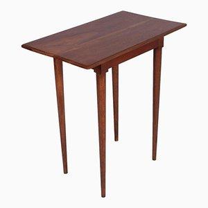 Tavolino Art Deco in noce massiccio
