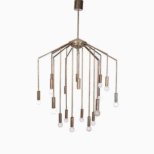 Lámpara de araña de Oscar Torlasco para Lumi, años 60