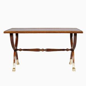 Tavolino da caffè Art Deco con piedi intagliati a mano