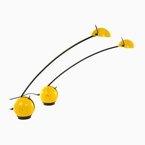 Lámparas de mesa Alina en amarillo de Valenti Luce, años 70. Juego de 2