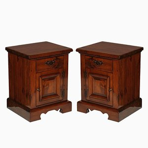 Large Tuscan Renaissance Nightstands, Set of 2