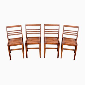 Reconstruction Chairs by René Gabriel, 1950s, Set of 4