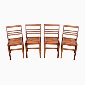 Reconstruction Stühle von René Gabriel, 1950er, 4er Set