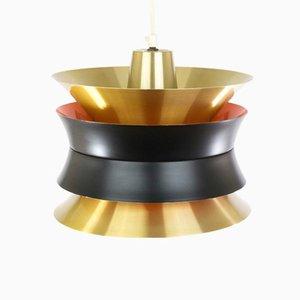 Lampada a sospensione Trava color ottone di Carl Thore per Granhaga Metallindustri, anni '60