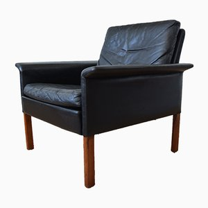 Model 500 Leather Lounge Chair by Hans Olsen for CS Mobelfabrik, 1960s