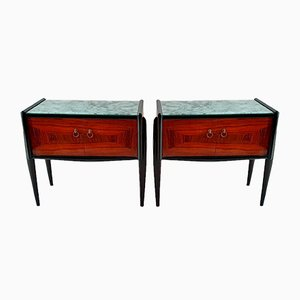 Mid-Century Italian Nightstands in Jacaranda, Set of 2