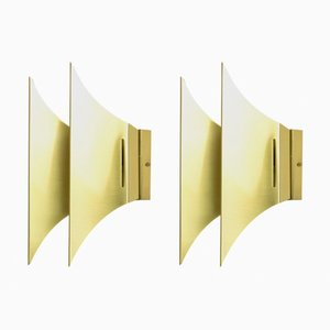 Brass Gothic II Wall Lamps from Lyfa, 1960s, Set of 2