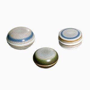 Scatole in ceramica di Nanni Valentini per Ceramiche Arcore, Italia, anni '70, set di 3