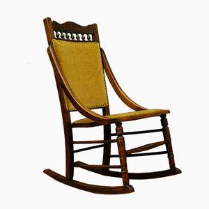 Petite Rocking Chair Vintage, Suède