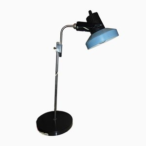 Black & Blue Desk Lamp, 1970s