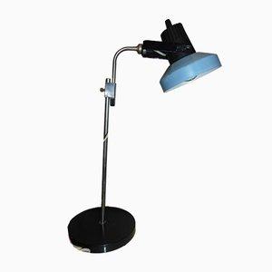 Lampada da scrivania nera e blu, anni '70