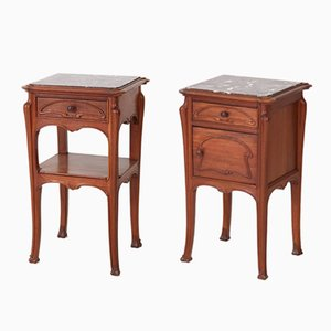 Art Nouveau French Nightstands, 1900s, Set of 2