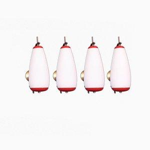 Vintage Wandlampen von Stilnovo, 1950er, 4er Set