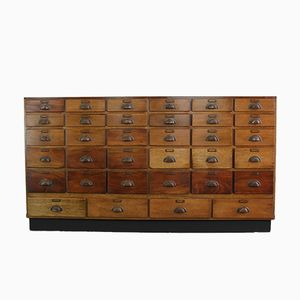Industrial Cherry Pharmacy Drawers, 1920s