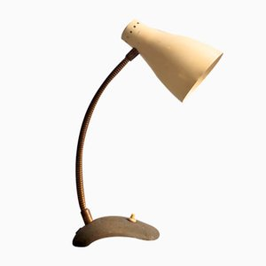 Desk Lamp with Flexible Arm, 1950s