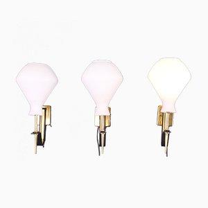 Vintage Wandlampen von Stilux Milano, 1950er, 3er Set