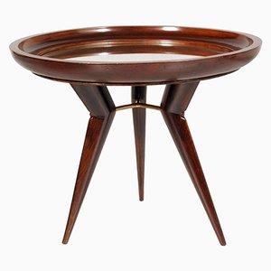 Tavolino da caffè con ripiano specchiato, anni '40