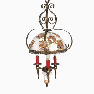 Hand-Painted Bassano Chandelier, 1950s