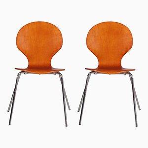 Dänische Mid-Century Farfalla Bugholz Stühle, 1960er, 2er Set