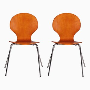 Mid-Century Danish Farfalla Bentwood Chairs, 1960s, Set of 2