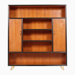 Cherrywood Bookcase with 2 Doors by Guglielmo Urlich for Arca-Mi, 1940s