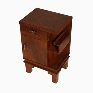 Art Deco Walnut Nightstand by Osvaldo Borsani