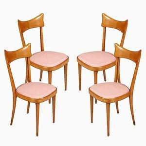 Sedie da pranzo Mid-Century moderne, set di 4