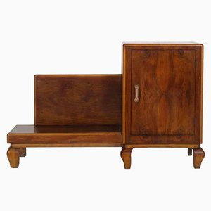 Art Deco Entrance Cabinet in Walnut