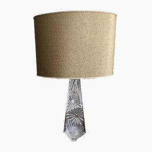 Lámpara de mesa de vidrio de Daum, años 70
