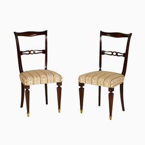 Vintage Mahagoni Beistellstühle, 2er Set