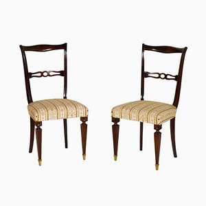 Vintage Mahogany Side Chairs, Set of 2