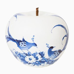 Peacock Hand Painted Apple by Sabine Struycken for Royal Delft