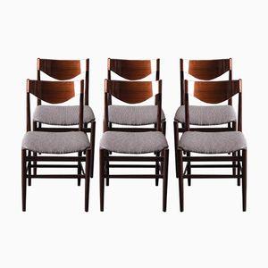 Palisander Esszimmerstühle, 1960er, 6er Set