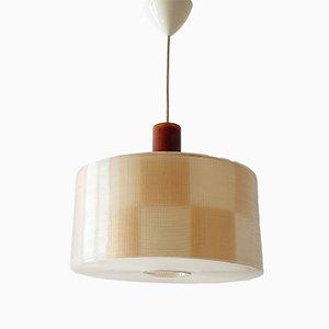 Lampe à Suspension Mid-Century en Rhodoïd et Résine de Rotaflex Heifetz, 1960s