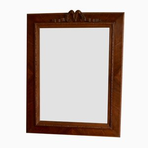 Vintage Rustic Mirror in Carved Wood