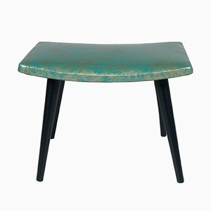 Mid-Century Stool in Ebonized Walnut