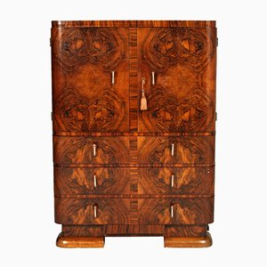 Art Deco Burl & Walnut Cabinet by Crafts Cantu, 1930s