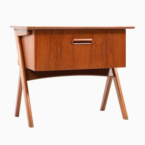 Mid-Century Danish Sewing Table in Teak