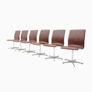 Sedie Oxford di Arne Jacobsen per Fritz Hansen, anni '60, set di 6