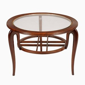 Mid-Century Walnut Coffee Table by Paolo Buffa, 1940s