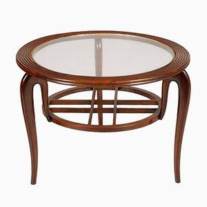 Tavolino da caffè Mid-Century in noce di Paolo Buffa, anni '40