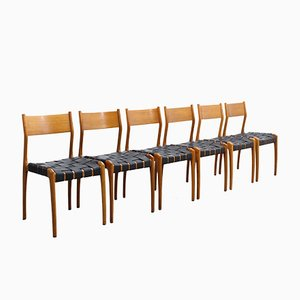 Vintage Model 993 Leather Dining Chairs by Studio Tipi for Montina, Set of 6
