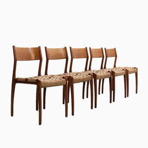 Chaises de Salon Modèle 993 Vintage en Corde par Studio Tipi pour Montina, Set de 5