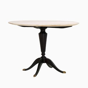 Art Deco Mahogany & Onyx Coffee Table by Paolo Buffa for Cassina
